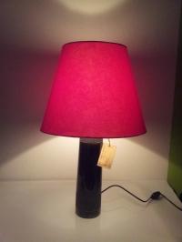 Đèn ngủ chân bình sứ chao đỏ